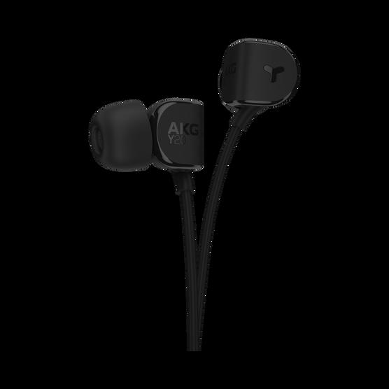 Y20 - Black - An in-ear headphone shaped to fit any ear - Hero