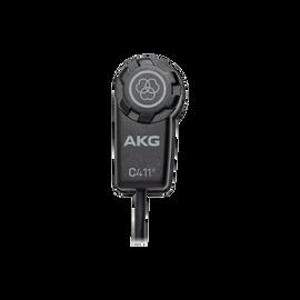 C411 PP - Black - High-performance miniature condenser vibration pickup with MPAV standard XLR connector - Hero