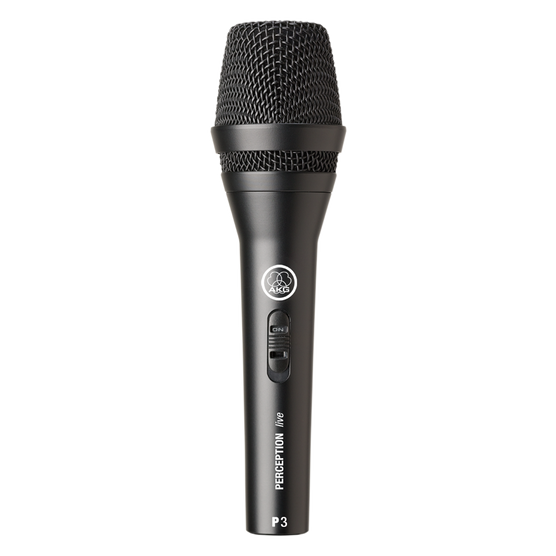 P3 S - Black - High-performance dynamic microphone with on/off switch - Hero