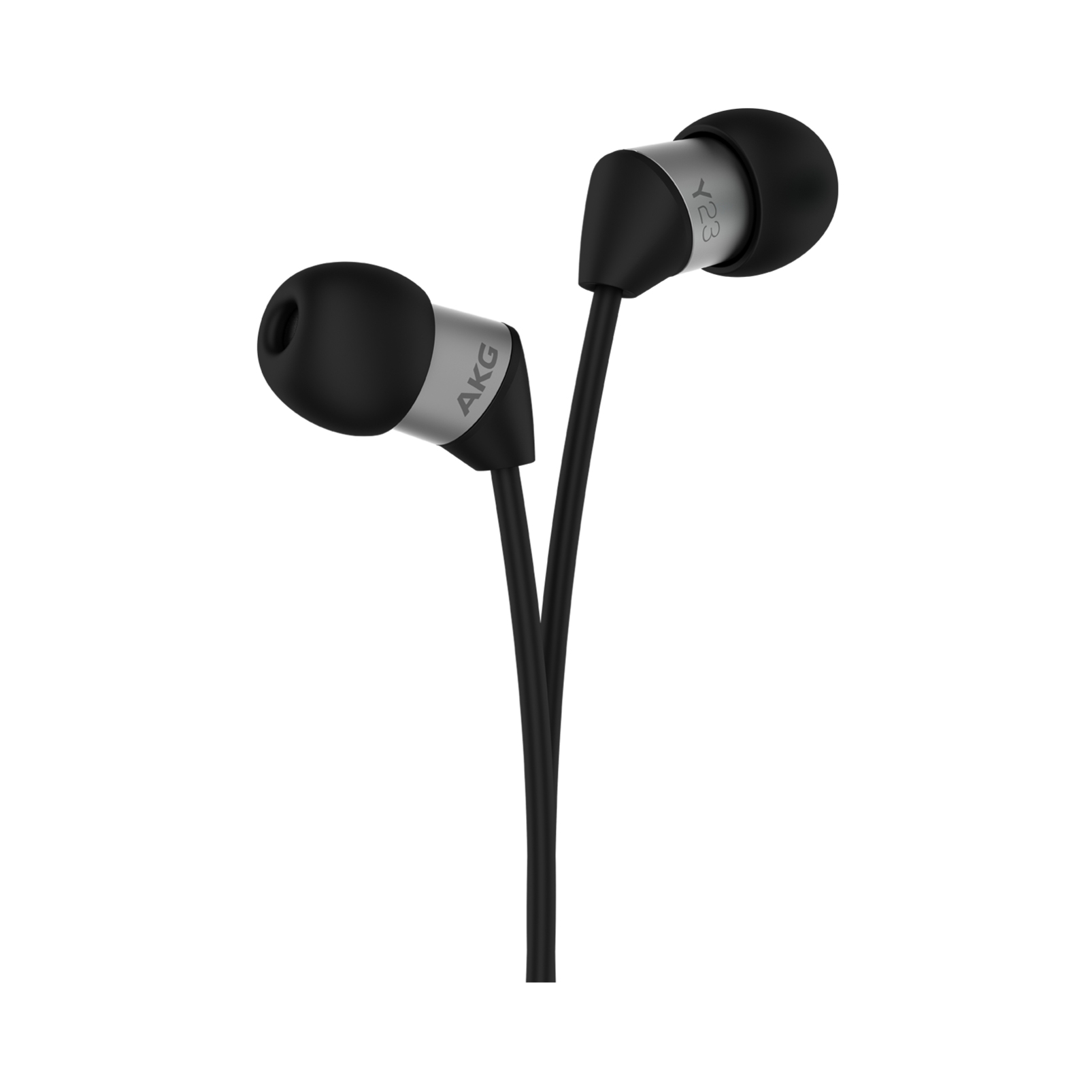 Y23U - Black - The smallest in-ear headphones with universal remote and microphone - Detailshot 1