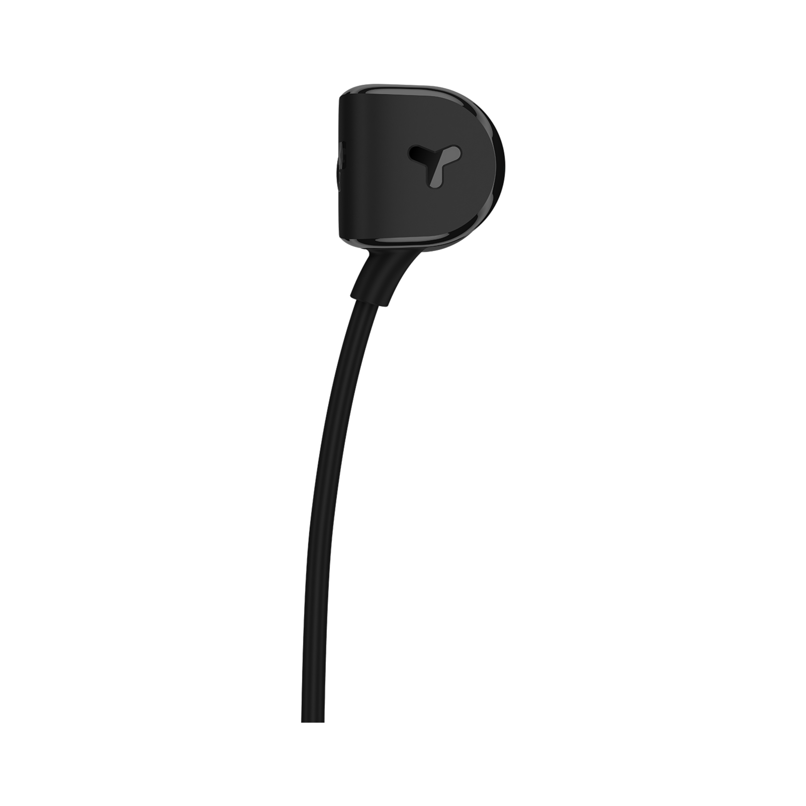 Y20 - Black - An in-ear headphone shaped to fit any ear - Back